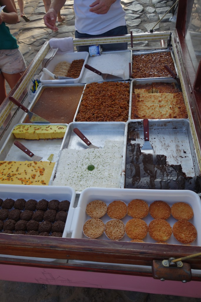 Delicious dessert carts on every street corner