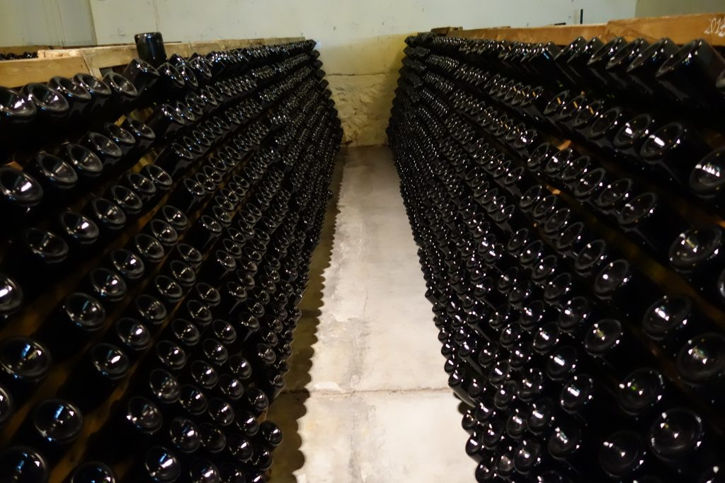 Wine aging at Bodega Lagarde