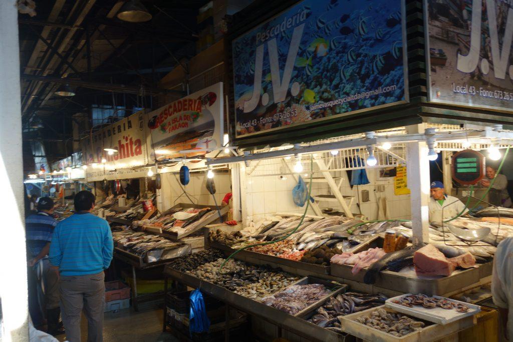 Fish market at Mercado Central