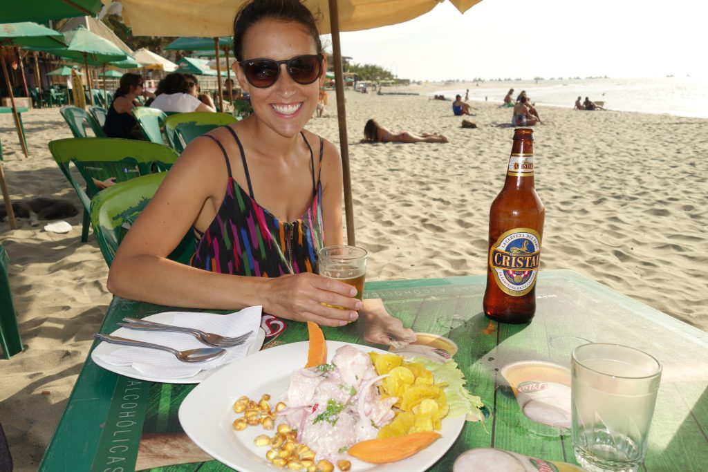 Extra large beers + ceviche = winning