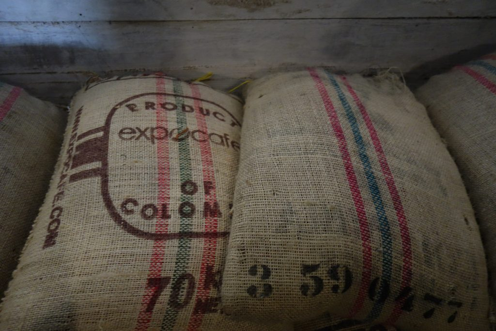 Straight up organic Colombian coffee