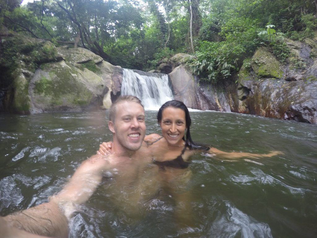 Swimming in the waterfalls outside of Minca