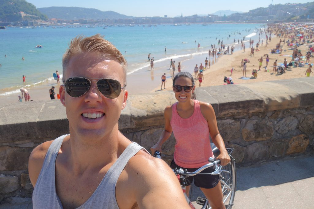 Two buddies on bikes